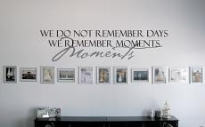 We Remember Moments Wall Decal