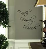 Faith Family Friends Wall Decal