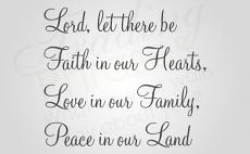 Let There Be Faith Wall Decal