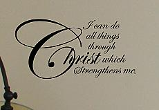 Christ Strengthens Me  Wall Decals