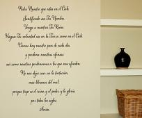 Spanish Version of the Lord's Prayer Wall Decal
