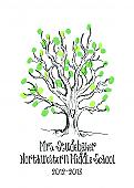 Teacher Sketch Tree Thumbprint Art