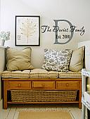 Initial Family Name Est Wall Decal