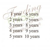Year Wall Decal