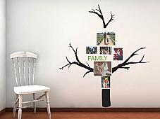Family Photo Tree 2 With Tall Branches Wall Decal