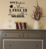 Fell in Love with a Soldier Wall Decal