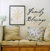 Family Blessings Wall Decal