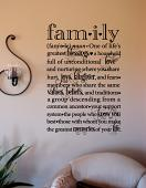 Family Defined Wall Decal