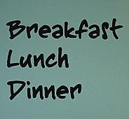 Breakfast Lunch Dinner Wall Decals