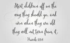 Start Children Off Wall Decal