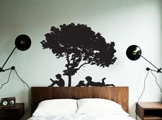 Reading Tree Wall Decal