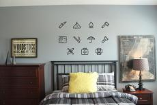 Assorted Camping Symbols Wall Decal