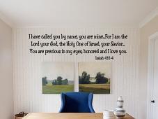 Isaiah 43 Wall Decal