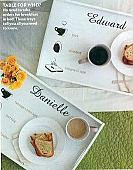 Personal Breakfast Tray Wall Decals