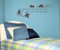 Trucks and Toys Wall Decal
