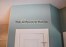 Meals Memories Name Wall Decal