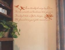 I Am Thankful Every Day I Live Wall Decal