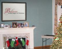 Believe Magic Christmas Wall Decal