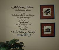 In Our Home Wall Decal