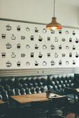 Coffee Cup Pattern Wall Decal