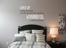 Wake Up Wonderful Wall Decal