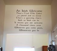 Irish Welcome Wall Decal