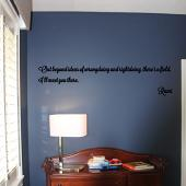 Rumi Quote Wall Decal