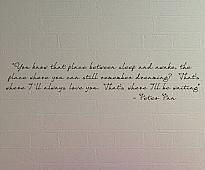 Peter Pan Place Between Sleep Awake Wall Decal Item
