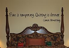 Quitting Is Forever Wall Decals