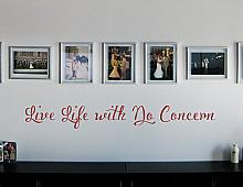 Live Life With No Concern Wall Decal