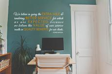 Extra Mile Wall Decal