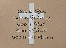 God Is Wall Decal Item