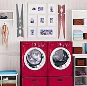 Clothespin Stripes Wall Decal