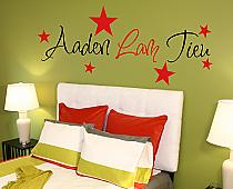 Name and Stars Wall Decal