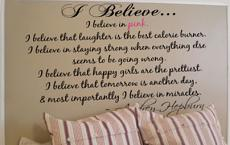 I Believe In Pink Wall Decal