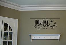 Holiday Greetings Wall Decal