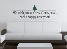 We Wish You Tree Wall Decal