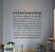 Relationship Wall Decal