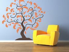 Fancy Leaf Tree Wall Decal