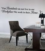 Our Residents Wall Decal