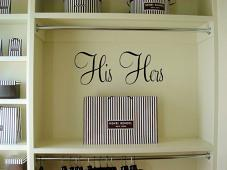 His and Hers Wall Decal