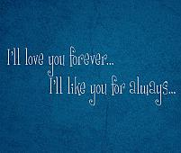 Love Forever Like For Always Wall Decal