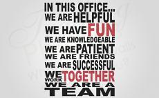 We Are A Team Large Wall Decal