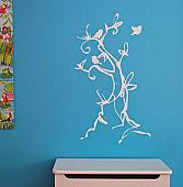 Funky Tree with Birds Wall Decal