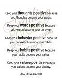 Keep Positive Wall Decal