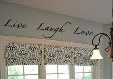Cursive Live Laugh Love Wall Decal