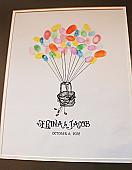 Hot Air Balloon Thumbprint Guest Book Print