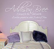 Name Prayed For This Child Wall Decal