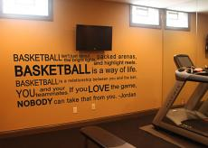 Basketball Quote Wall Decal