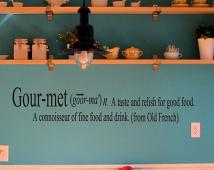 Gourmet Wall Decal